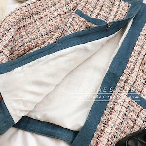 ♡デニムパイピングツイードジャケット