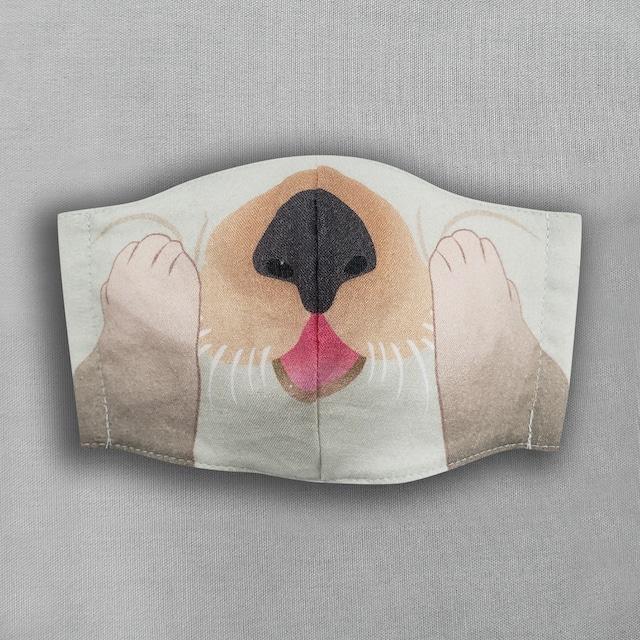 【抗菌・抗ウィルス加工マスク/受注販売】ラッコ|動物マスク
