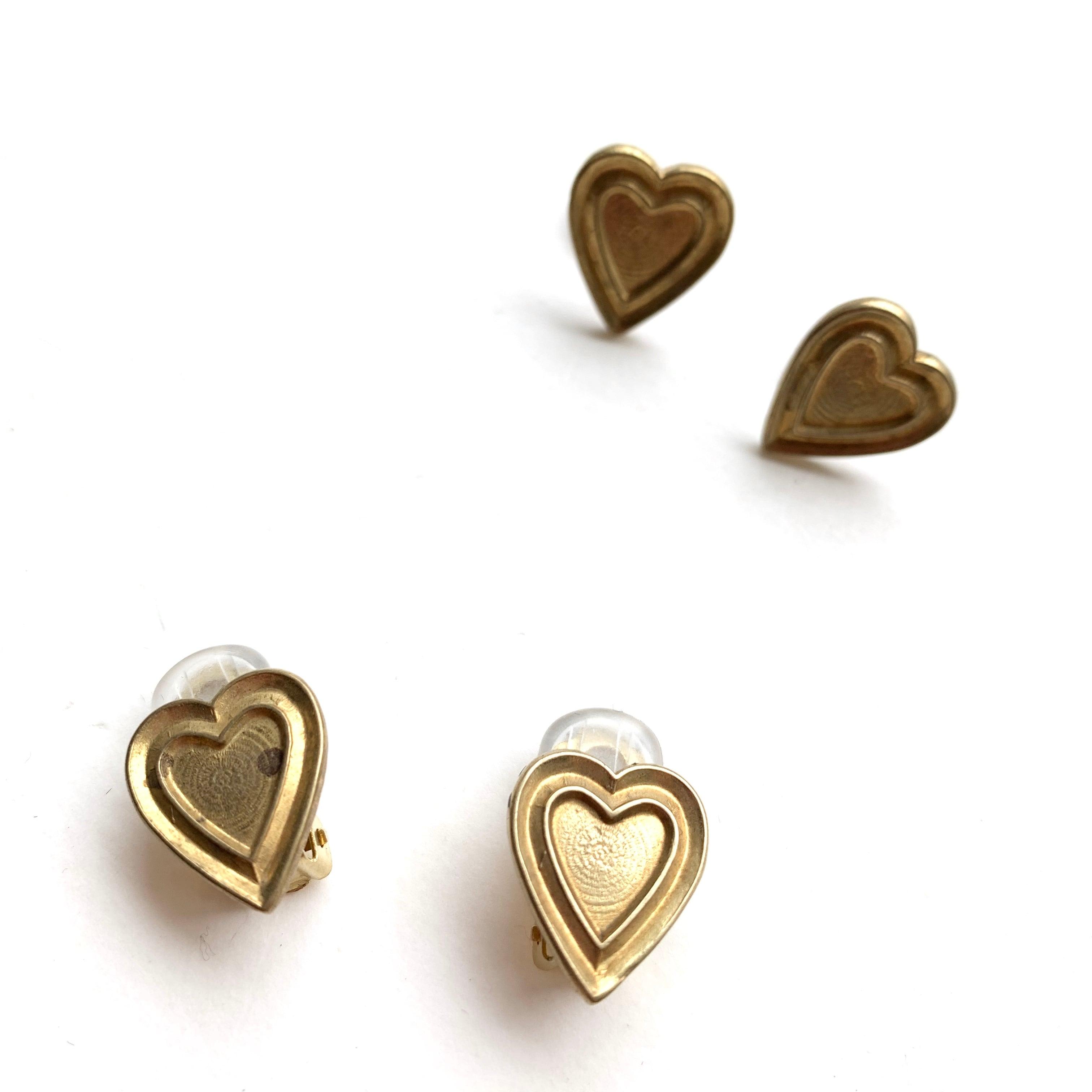 Brass mini heart B-036
