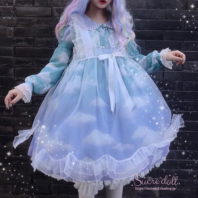 Cloud angel sheer dress
