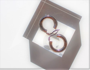 Vo.03【  TUBE HOOP 】× earrings  ×  925silver