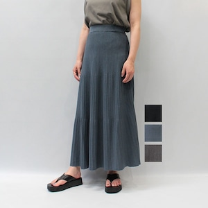 RIM.ARK(リムアーク) Pin tuck flare knit SK 2021秋物新作 [送料無料]