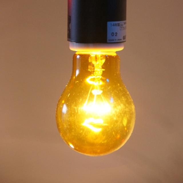 E26 40W 透明カラーランプ イエロー(白熱電球)※電球のみ