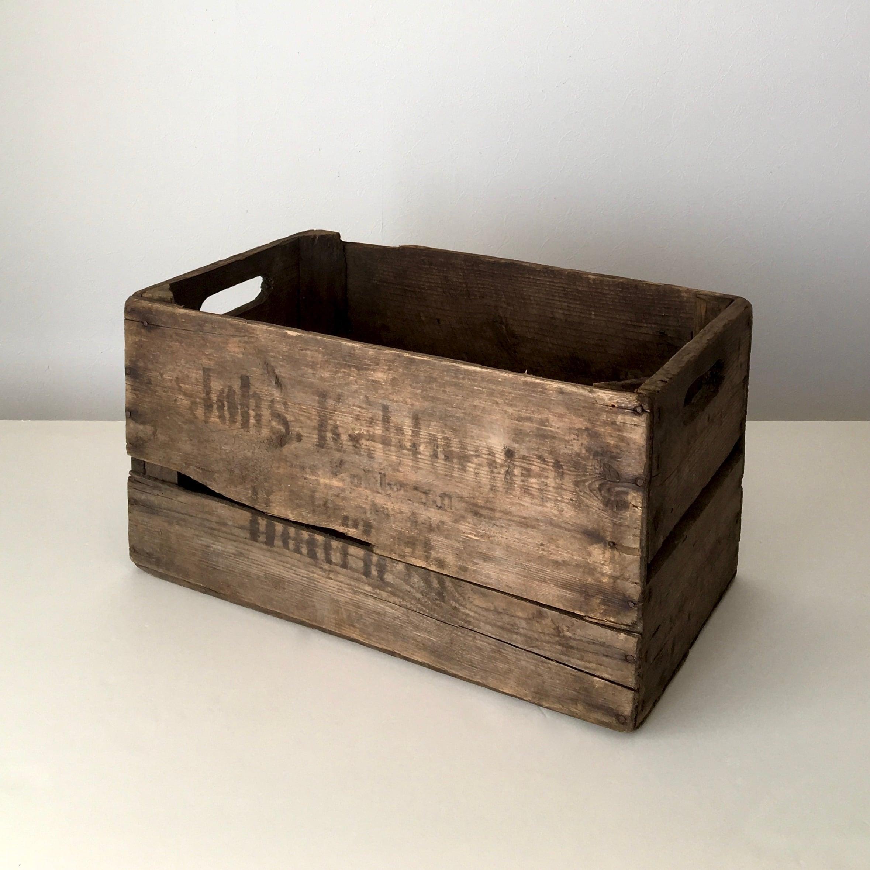 ヴィンテージのリンゴの木箱①|Vintage German Apple Box