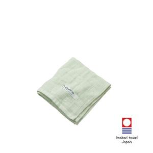 KuSu POP paletone 3重ガーゼウォッシュタオル/グリーン 1-60070-51-G