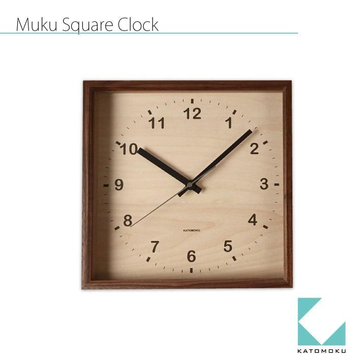 KATOMOKU square clock km-38B