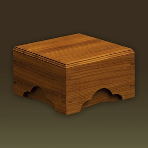 化粧木箱 モアビ(ナイジェリア/コンゴ産)【手作り/木の箱】