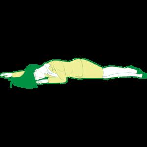 うつ伏せで倒れている女性①