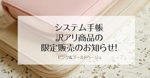 【訳アリ商品】30%off!マルチ家計収納 システム手帳 ディスカウント商品 手帳本体のみ 送料込み