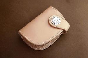 【受注製作】本革サドルレザーのハーフ財布【コンチョ】