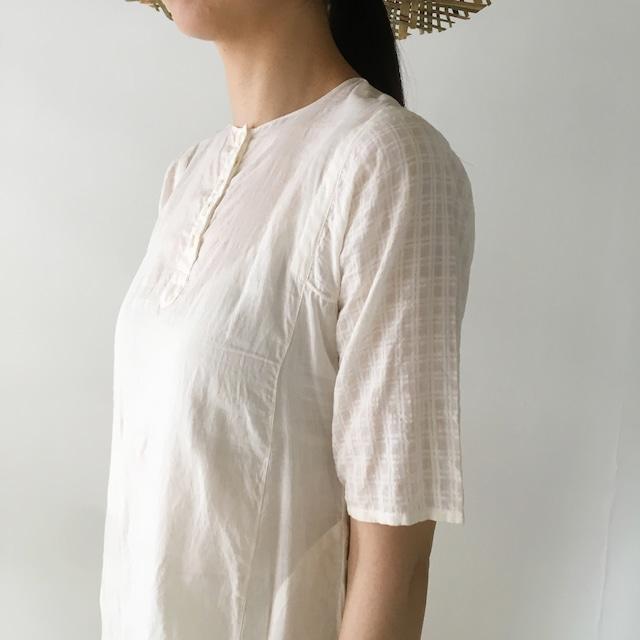 "Kurta middle length blouse ""White"""