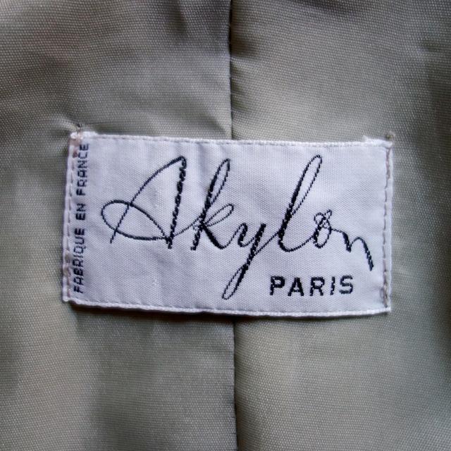 【MADE IN FRANCE】AKYLON ミリタリースタイルダブルブレステッドコート