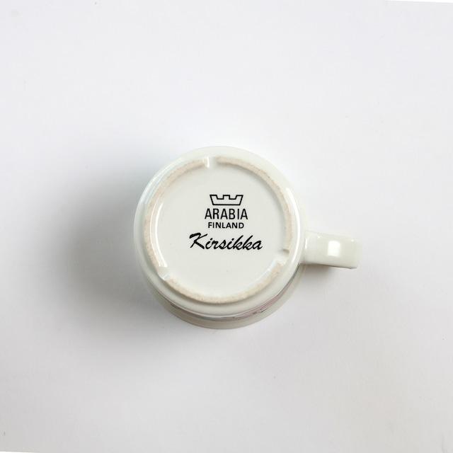 ARABIA アラビア Kirsikka キルシッカ コーヒーカップ&ソーサー、プレート三点セット - 9 北欧ヴィンテージ