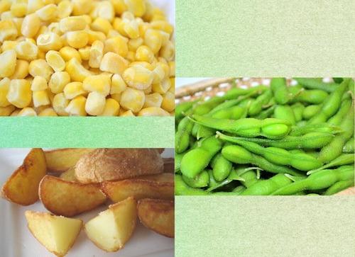 北海道十勝産 冷凍野菜Aセット(コーン・枝豆・フライドポテト各2袋)
