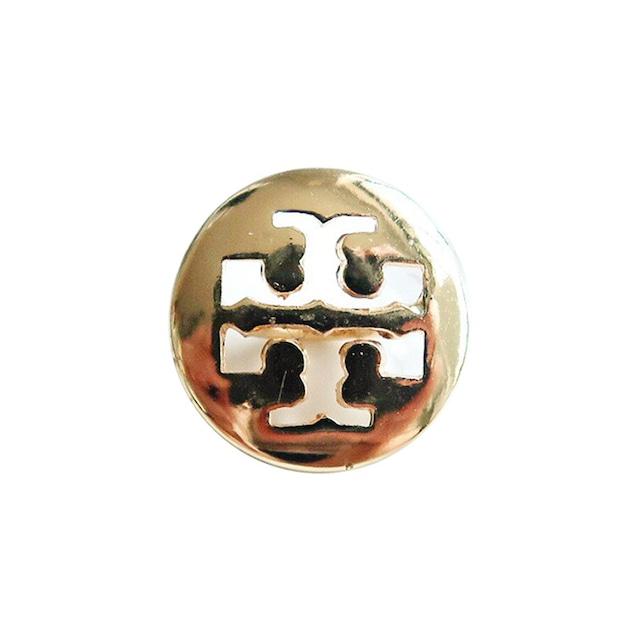 【VINTAGE TORY BURCH BUTTON】ゴールド ロゴ ボタン 14mm T-19001