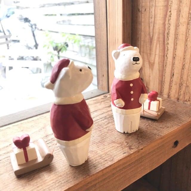 【polepole (ぽれぽれ、ポレポレ)】  クリスマス シロクマサンタ プレゼント
