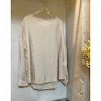 【hippiness】cupro long sleeve (beige)/【ヒッピネス】キュプラ ロングスリーブ(ベージュ)