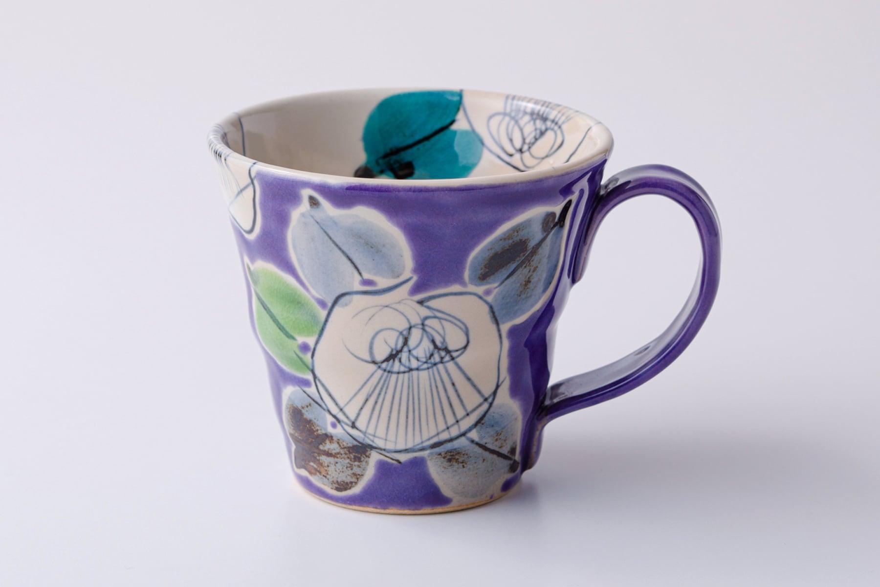 マグカップ 古染椿バイオレット