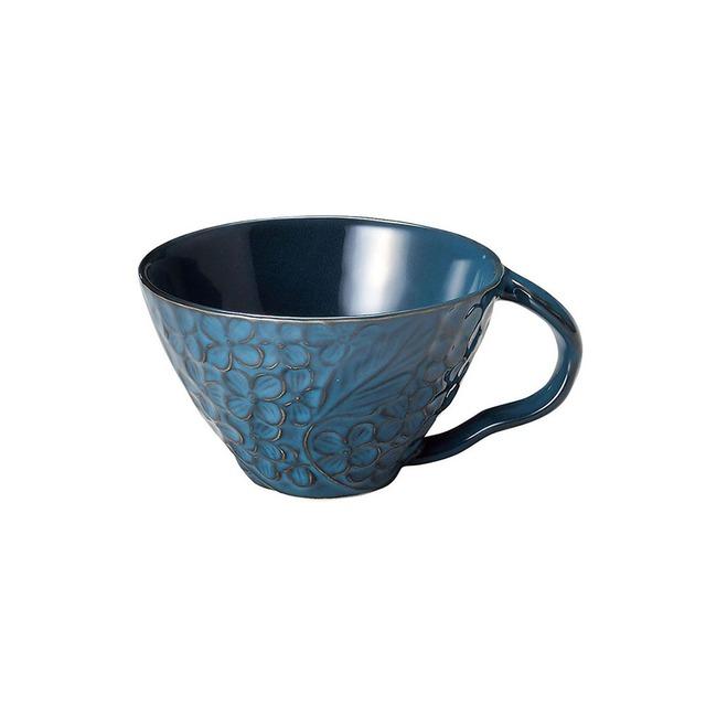 aito製作所 「リアン Lien」スープカップ 約12cm 330ml ブルー 美濃焼 267829