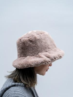 【UNISEX - 1 size】FUR BUCKET HAT / 3colors