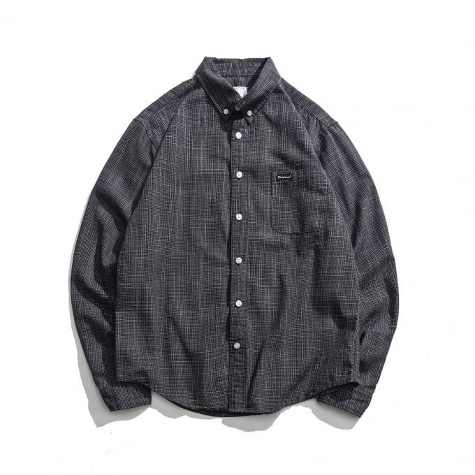 【UNISEX】アウトドア ピンチェック カラーシャツ【2colors】