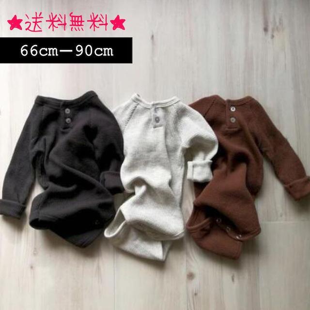 【66cm-90cm】秋新作☆韓国子供服☆男女兼用 ベビーロンパース (366)