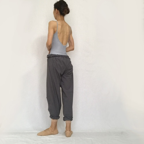 """Jasmine"" Long Ballet Pants  - Sable Gray (「ジャスミン」ロングバレエパンツ -セーブル・グレー)"