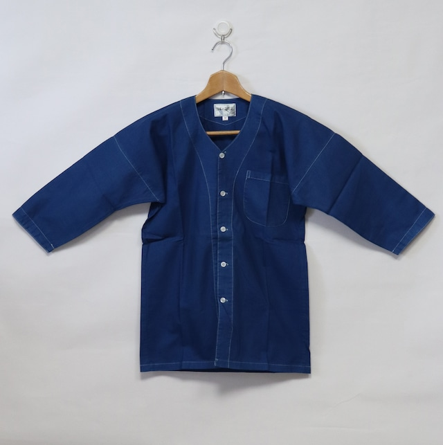 藍染鯉口シャツ|Mサイズ
