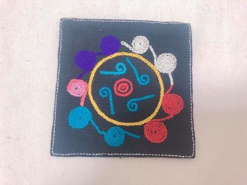 レンテン族 刺繍コースター