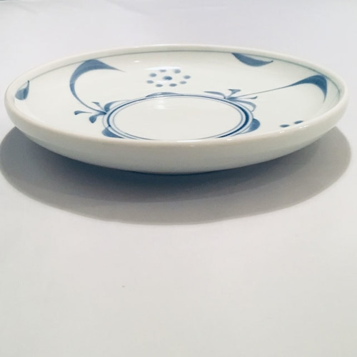 【砥部焼/梅山窯】6寸丸皿・切立(太陽)