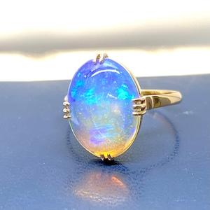 昭和の懐かしい指輪 Japanese Traditional ring k18 ウォーターオパール