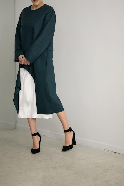 BELPER / Slashed wool dress