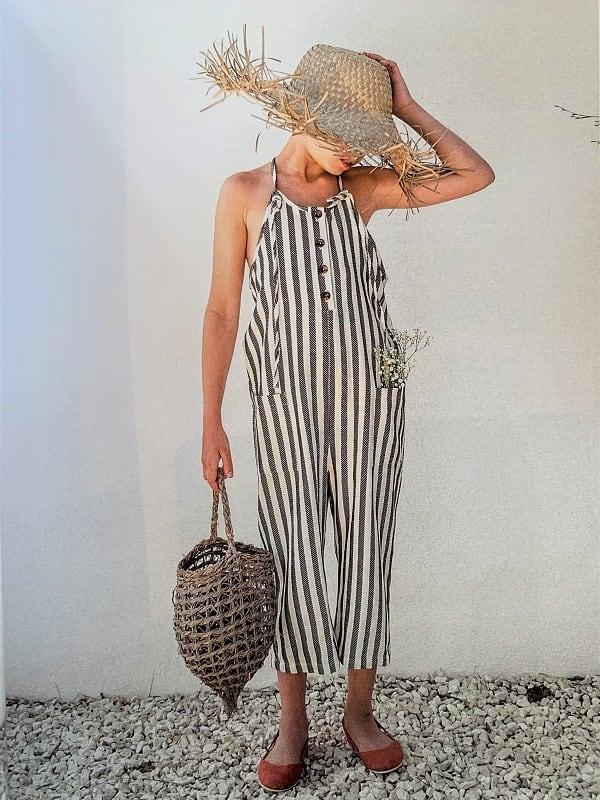 Belle Chiara Jumpsuit/Stripe (12,14Y)
