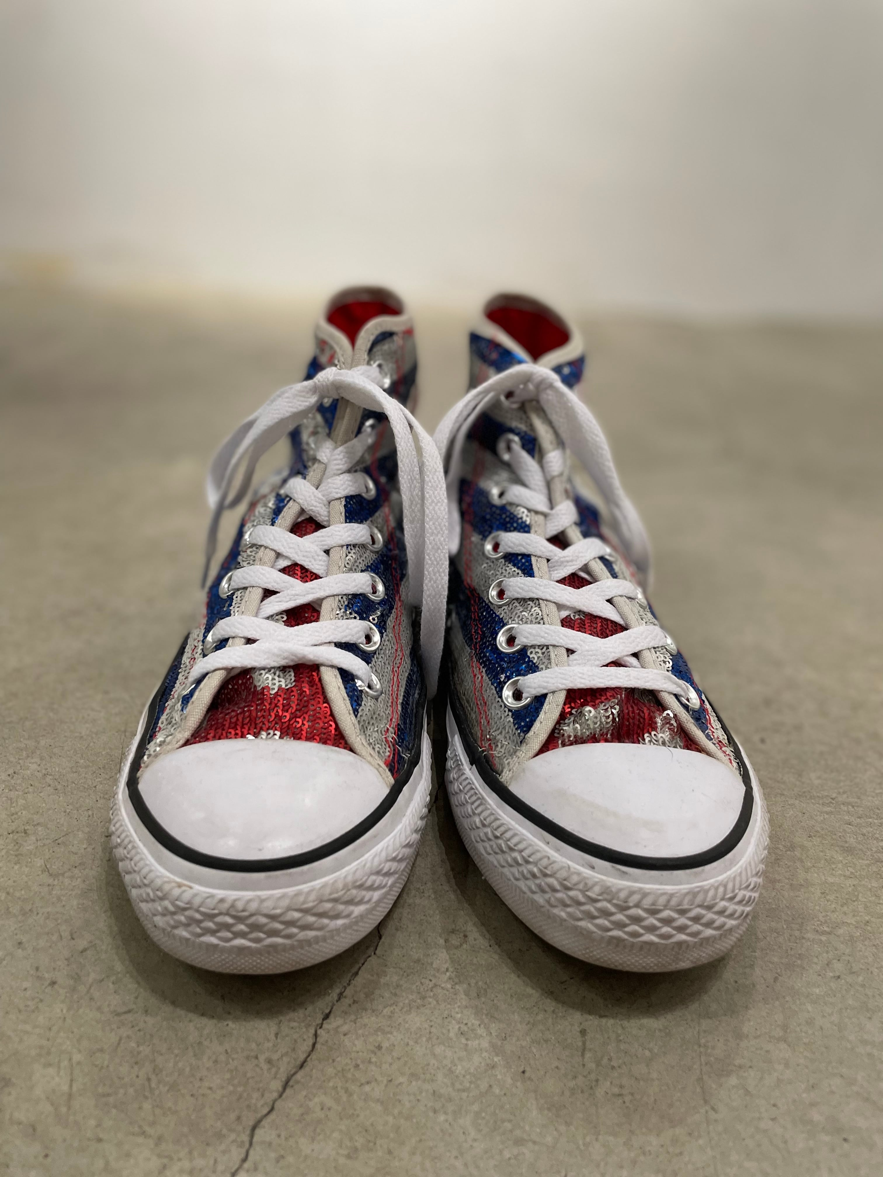 """old """"Converse"""" the Stars and Strips spangle sneaker"""