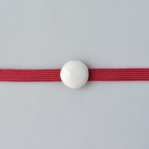 白磁の帯留め 玉