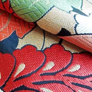 帯タペストリー アンティーク丸帯 ビビッド桐紋様1