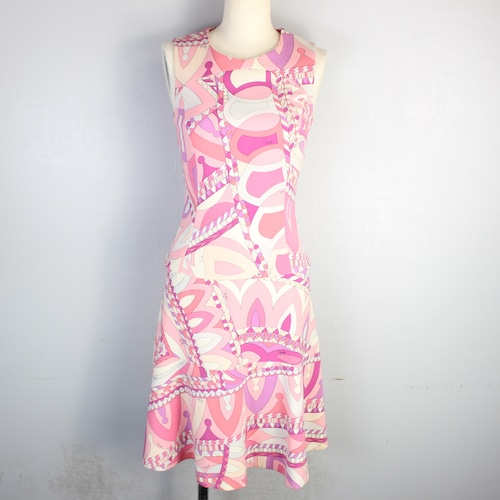 EMILIO PUCCI PUCCI PATTERNED NO SLEEVE ONE PIECE MADE IN ITALY/エミリオプッチプッチ柄ノースリーブワンピース
