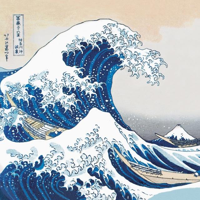2021春夏【Paperproducts Design】バラ売り2枚 ランチサイズ ペーパーナプキン The Great Wave ブルー
