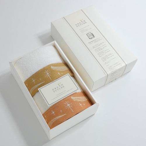 無撚糸(むねんし)高級Hand Towel 2枚SET Twinkle BEIGE  /  Twinkle ORANGE