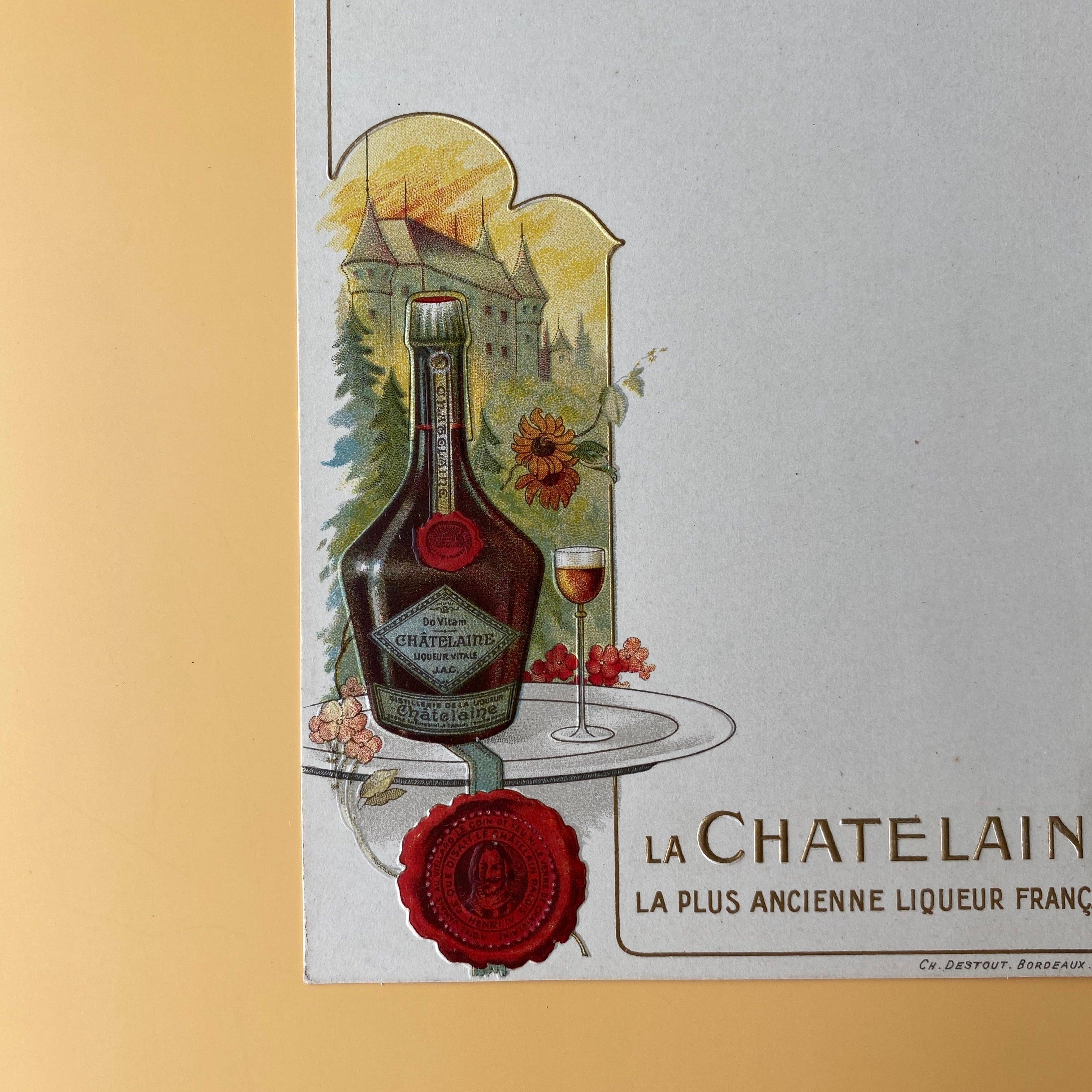 メニューカード(La CHATELAINE)/ vp0073