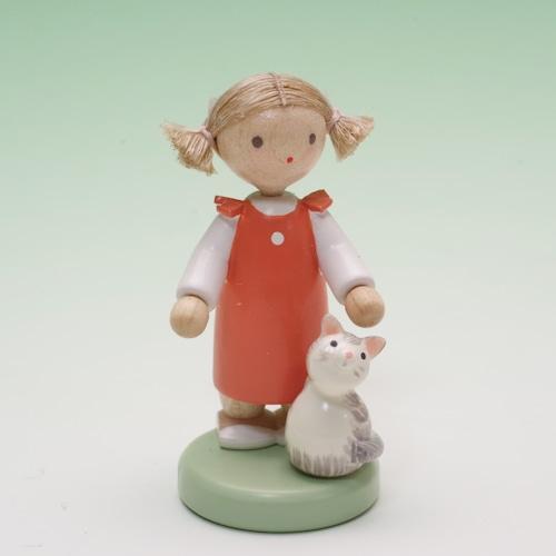 フラーデ 女の子とネコ
