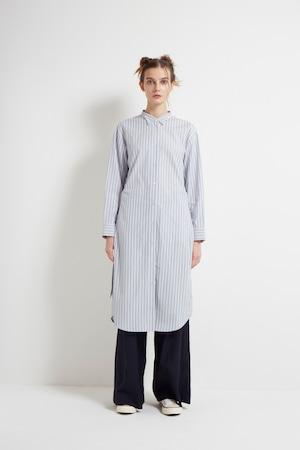 【MONO×MIDDLA】 LADY'S MONO STRIPE WING COLLAR SHIRT DRESS