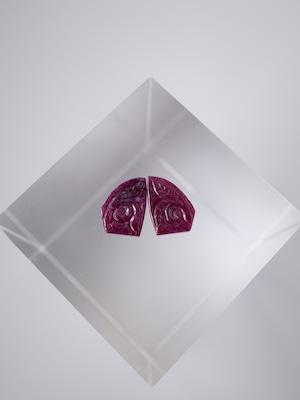 Carving Ruby Pair- 011
