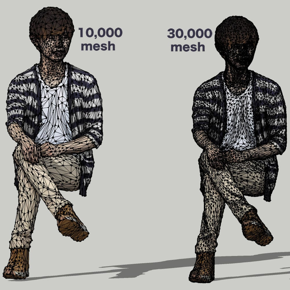 SketchUp素材 3D人物モデル ( Posed ) 035_Toru - 画像3