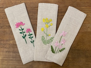 【GOODS】ポプリ刺繍BIGしおり⭐︎春のお花たち-LUCO