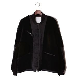 Back Side Detail Fur Blouson -black <LSD-AI3B2>