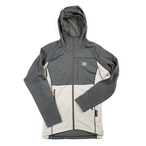 UN3100 Mid weight fleece hoody / Charcoal : Cream