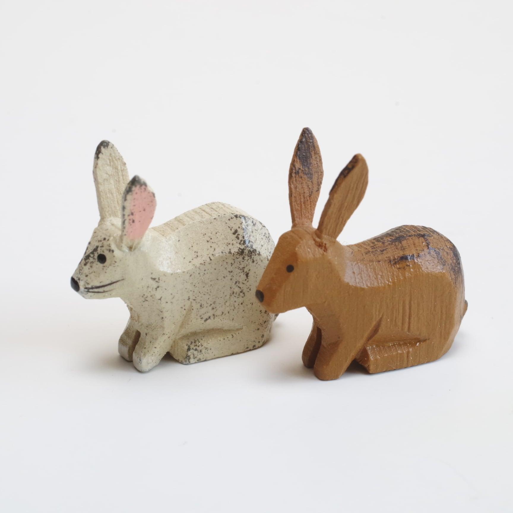 ヴェルナー ウサギ(白・茶)