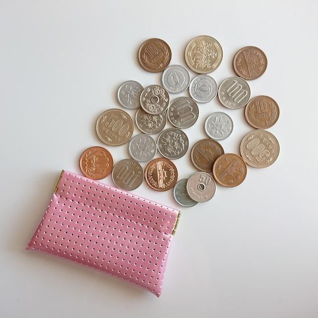 OSORO コインケースmini ☆ もも 小銭に指が届く 小さいけどたっぷりのコインを収納