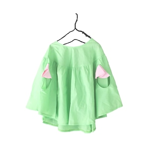 PONCHO GATHER TOPS DYED / LL